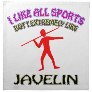 Javelin designs printed napkins