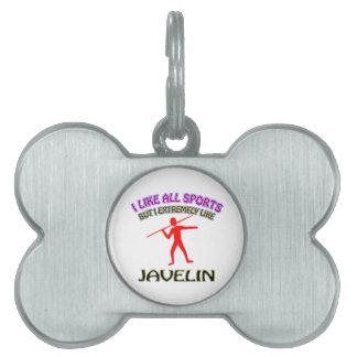 Javelin designs pet tags