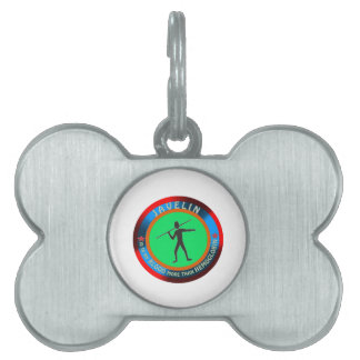 Javelin designs pet name tags