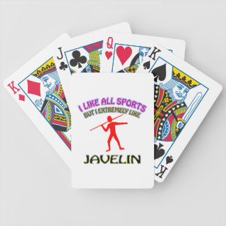 Javelin designs playing cards