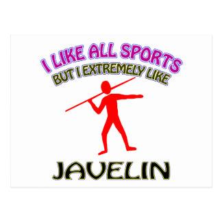 Javelin designs postcards
