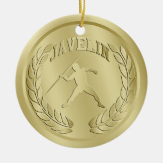 Javelin Gold Toned Medal Ornament