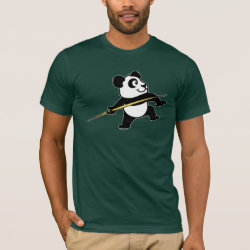 Men's Basic American Apparel T-Shirt with Cute Javelin Panda design