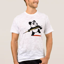 Burnout Fitted T-Shirt with Cute Javelin Panda design