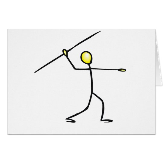 Javelin Stick Figure T-shirts and Gifts. Card
