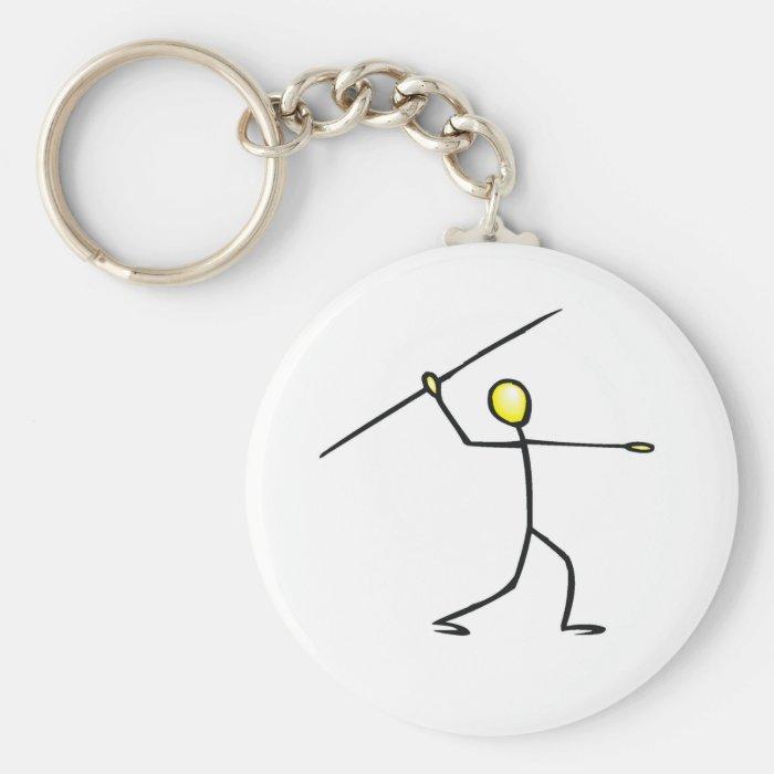 Javelin Stick Figure T-shirts and Gifts. Keychain