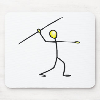 Javelin Stick Figure T-shirts and Gifts. Mouse Pad