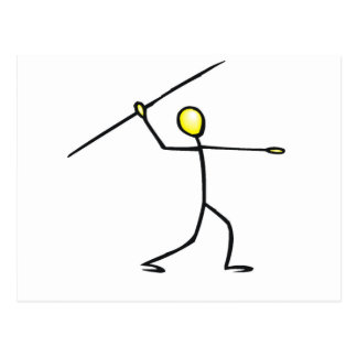 Javelin Stick Figure T-shirts and Gifts. Postcard