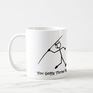Javelin Stick Lady You Gotta Throw Far Classic White Coffee Mug