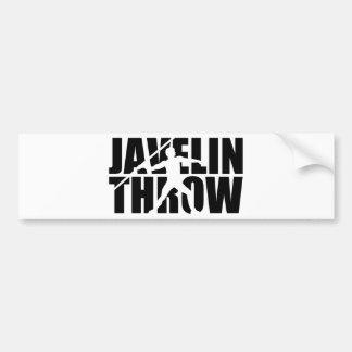 Javelin throw bumper sticker