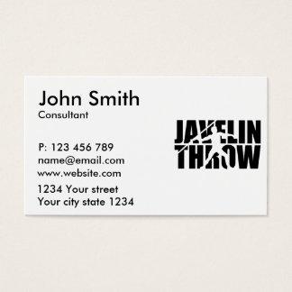Javelin throw business card