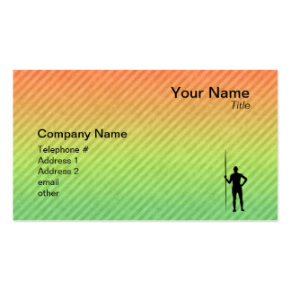 Javelin Throw Double-Sided Standard Business Cards (Pack Of 100)