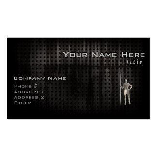 Javelin Throw; Cool Double-Sided Standard Business Cards (Pack Of 100)