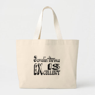 Javelin throw Is Excellent Large Tote Bag