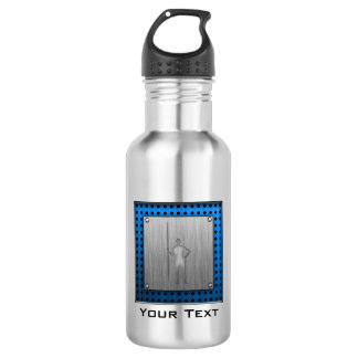 Javelin Throw; Metal-look Stainless Steel Water Bottle