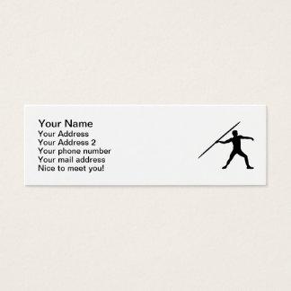 Javelin throw mini business card