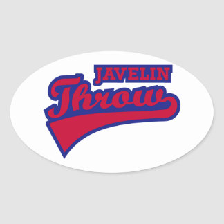 Javelin throw oval sticker