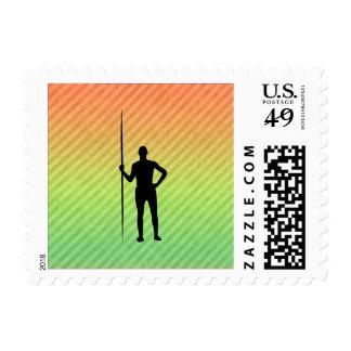 Javelin Throw Postage Stamps