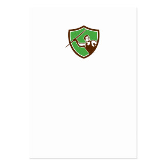 Javelin Throw Track and Field Athlete Shield Large Business Cards (Pack Of 100)