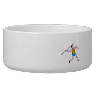Javelin Throw Track and Field Cartoon Bowl