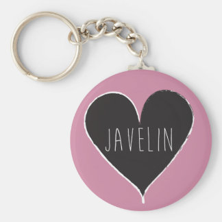 Javelin Throw Track and Field Keychain