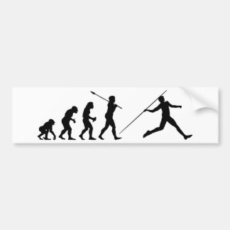 Javelin Thrower Bumper Sticker