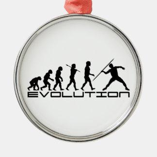 Javelin Track and Field Sport Evolution Art Metal Ornament