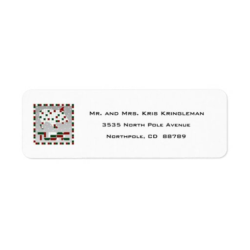 Javelina Christmas Return Address Labels