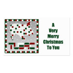 Javelina Southwest Mosaic Christmas Gift Tags Double-Sided Standard Business Cards (Pack Of 100)