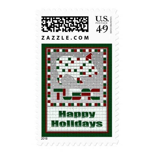 Javelina Southwest Mosaic Christmas Postage