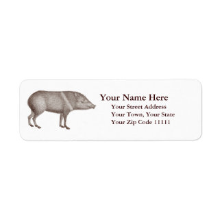 Javelinas Collared Peccaries Unique Arizona Label