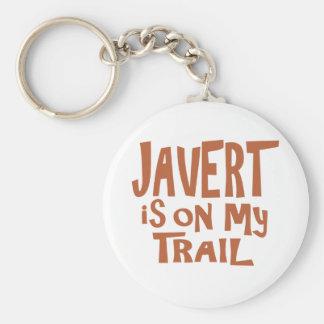Javert is on my Trail Basic Round Button Keychain