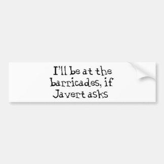 Javert Les Miserables Bumper Sticker