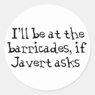 Javert Les Miserables Classic Round Sticker