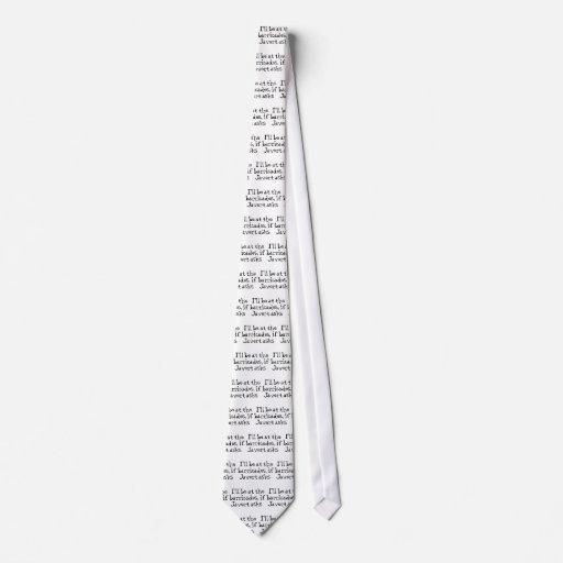 Javert Les Miserables Corbata Personalizada