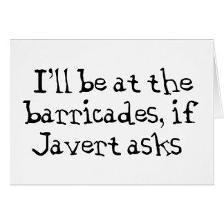 Javert Les Miserables Tarjeta De Felicitación
