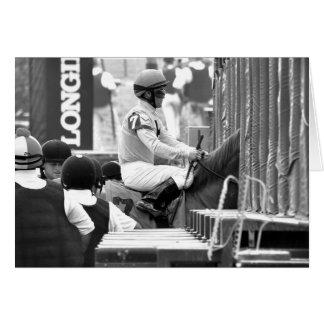 "Javier Castellano ""Leading Rider at Saratoga"" Card"