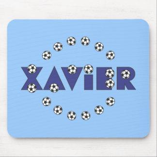 Javier en azul del fútbol mouse pads
