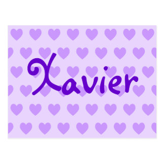 Javier en púrpura tarjetas postales