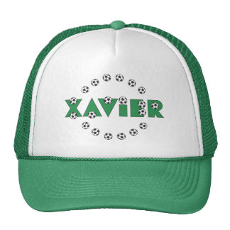 Javier en verde del fútbol gorras de camionero
