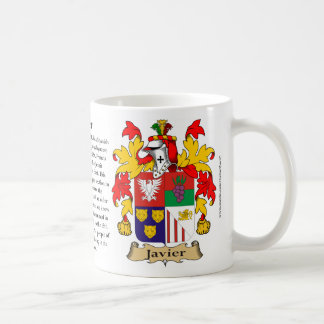 Javier, the Origin, the Meaning and the Crest Coffee Mug