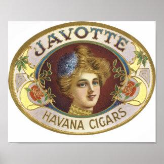 Javotte Havana Cigars Poster