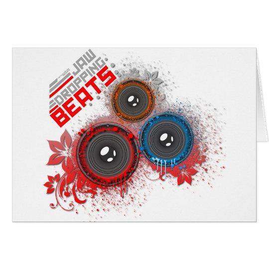 Jaw Dropping Beats - Music DJ Graffiti Urban Card