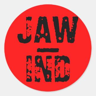 JAW, -, IND CLASSIC ROUND STICKER