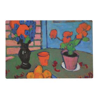Jawlensky - Still Life with Flowers and Oranges Laminated Place Mat
