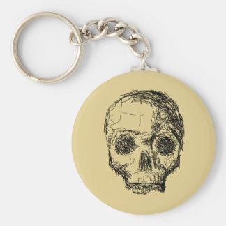 Jawless Black Skull. Key Chain