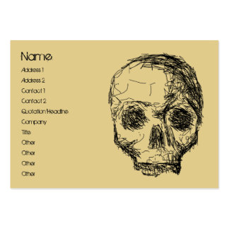 Jawless Black Skull. Large Business Card