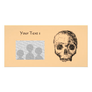Jawless Black Skull Picture Card