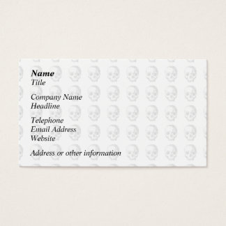 Jawless Skulls, Black and White Pattern. Business Card