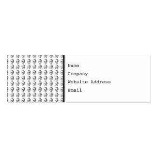 Jawless Skulls, Black and White Pattern. Mini Business Card